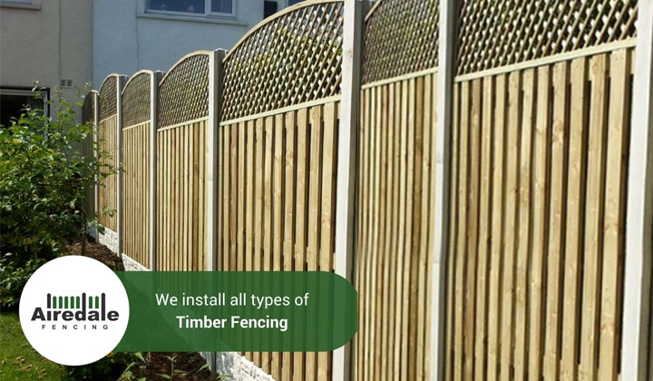 Timber Panel Fencing 1